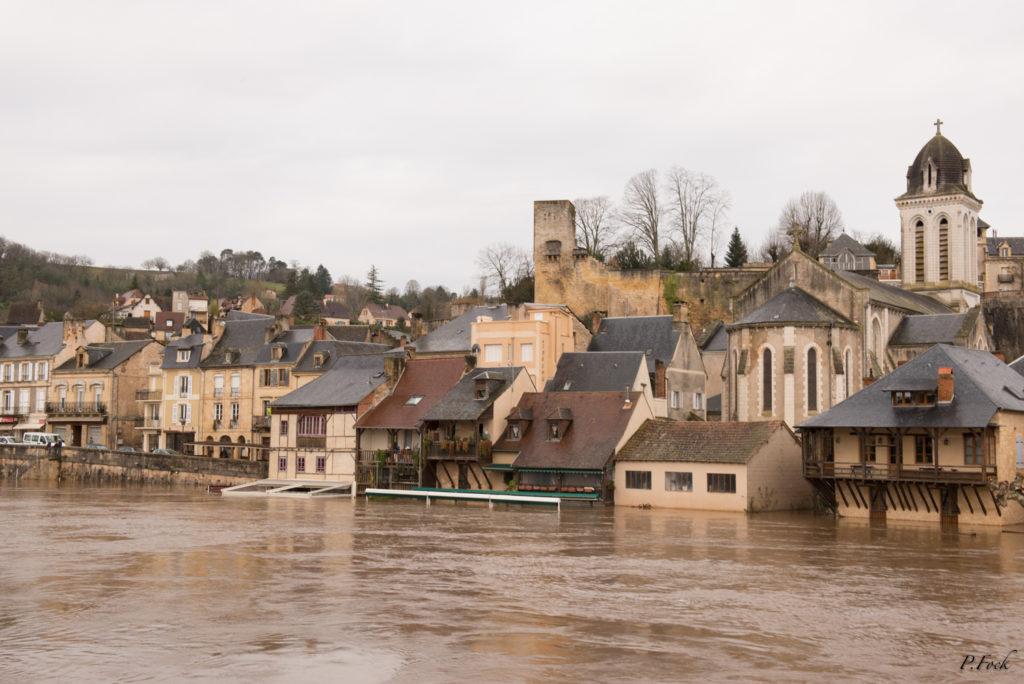 Inondation des quais Montignac 2016