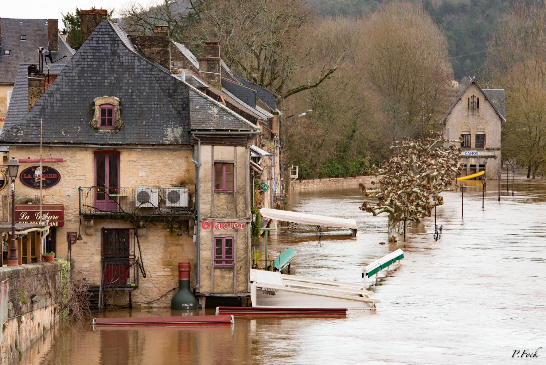 Inondation des quais Montignac 2016 @Pierre Fock